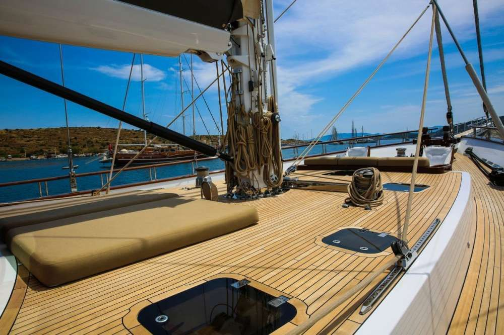 ZANZIBA Etemoglu 40m Luxury Sailing Yacht Sun Deck