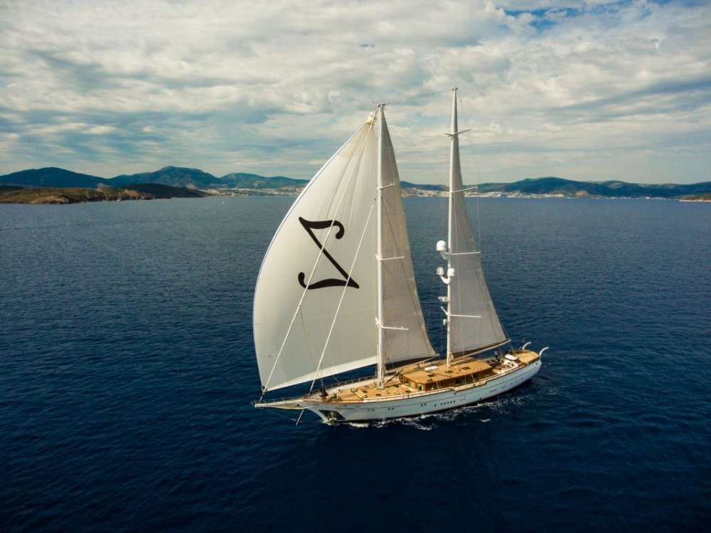 ZANZIBA Etemoglu 40m Luxury Sailing Yacht Running