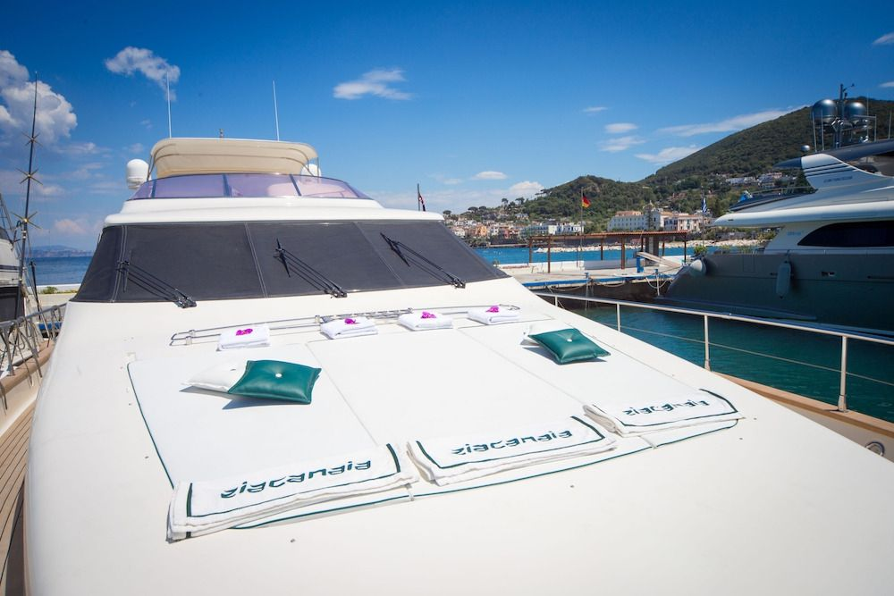 ZIA CANAIA Riva Yacht Foredeck