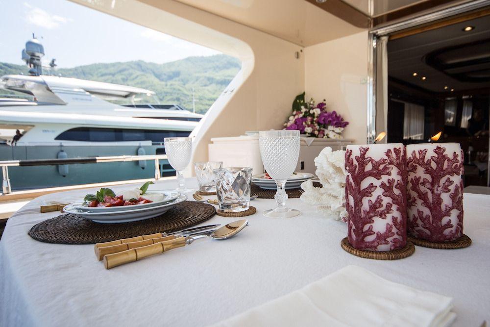 ZIA CANAIA Riva Yacht Al Fresco Dining