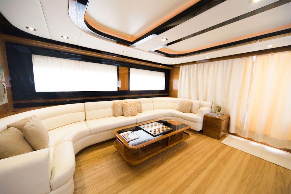 ZIA CANAIA Riva Yacht Main Saloon